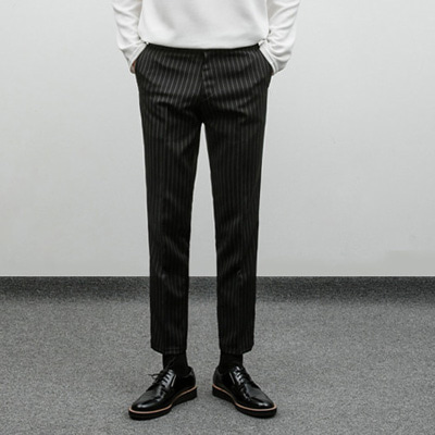 [BE1246]Semi stripe Slacks( 3 color S/M/L size )