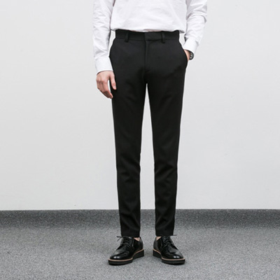 [BC2801]Tape Wrinkle-free Slacks-Black( 1 color M/L/XL size )