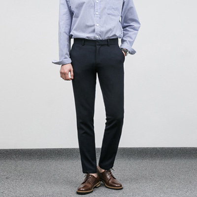 [BC2802]Tape Wrinkle-free Slacks-Navy( 1 color M/L/XL size )