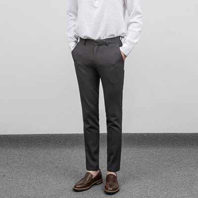 [BC2803]Tape Wrinkle-free Slacks-grey( 1 color M/L/XL size )