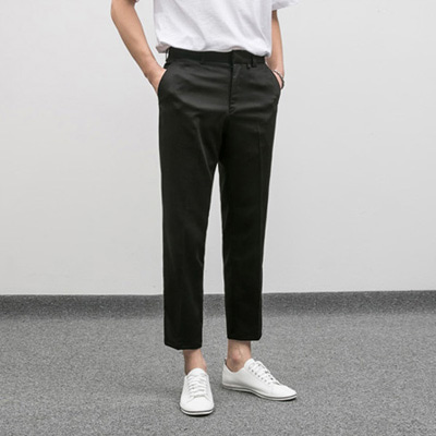 [BE1248]Semi wide TR Slacks( 3 color S/M/L size )