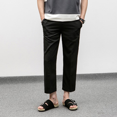 [BJ0258]Band Wide Slacks( 2 color M/L size )