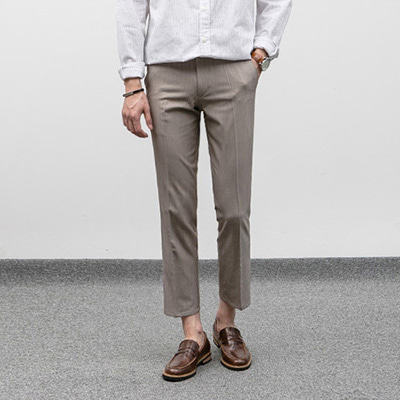 [BJ0272]Nature Slim Slacks( 1 color S/M/L size )