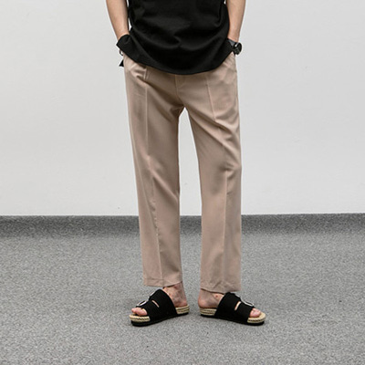 [BJ0277]Tuck Wide Slacks( 4 color M/L size )