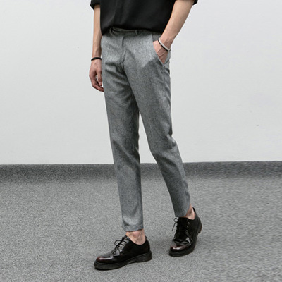 [BJ1628]Mannish Bokashi Slacks( 2 color S~XL size )
