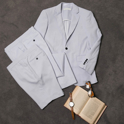 [BL1380]Pastel Linen Suit - Sky( 1 color S~XL size )