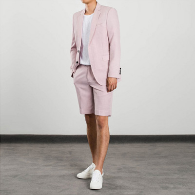 [BL1370]Pastel Half Suit - Pink( 1 color S~XL size )