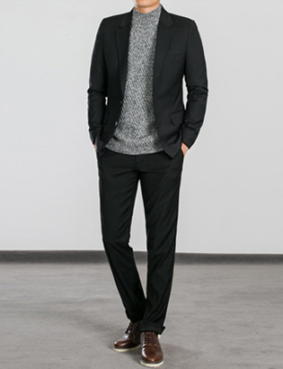 [BS0767]Morris Suit - Black( 1 color M~XXL size )