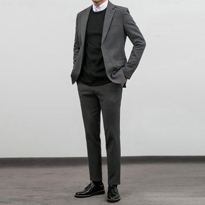 [BY2843]Orion Suit - Charcoal( 1 color S~XL size )