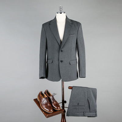 [BA1912]Core Basic Suit - Grey( 1 color S/M/L size )