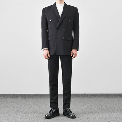 [BC1552]Firenze double Suit - Black( 1 color M/L/XL size )