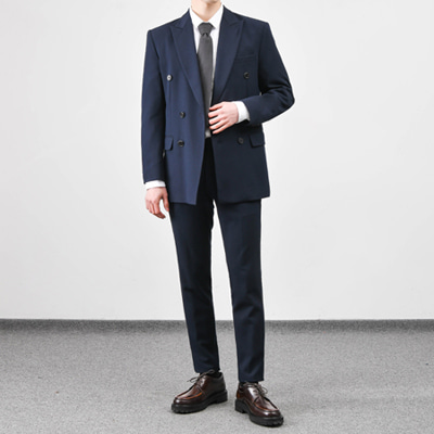 [BC1553]Firenze double Suit - Navy( 1 color M/L/XL size )
