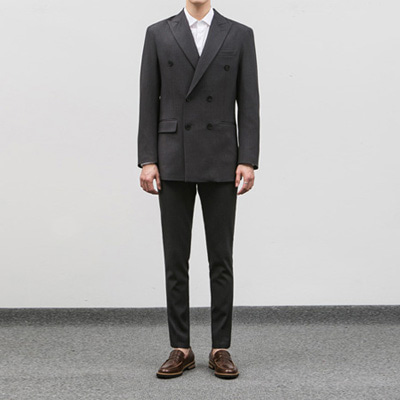 [BC1554]Firenze double Suit - Grey( 1 color M/L/XL size )