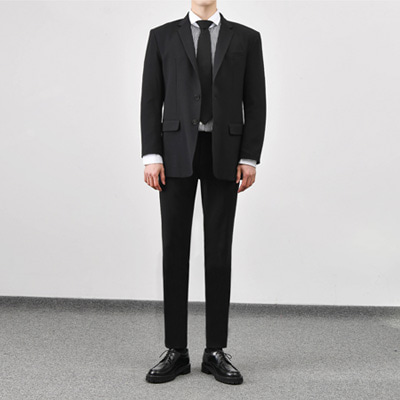 [BC2897]Mas Suit set-Black( 1 color M/L/XL size )