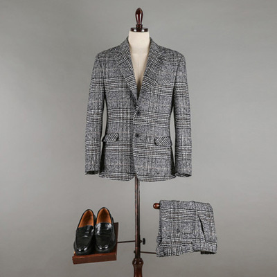 [BX1091]Glen Check Suit( 1 color S/M/L size )