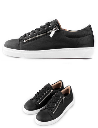 [BL2275]Zed Zipper Sneakers( 2 color 250~280size )