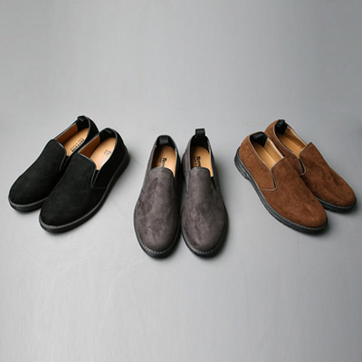 [BT1863]Suede Slip-on Shoes( 3 color 250~280 size )