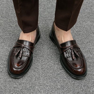 [BS0645]Stitch Tassel Loafer( 2 color 250~280 size )