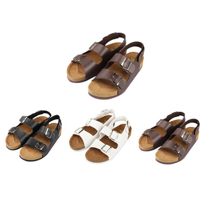 [BJ0970]Leather Buckle Sandal(3 color 250~280 size)