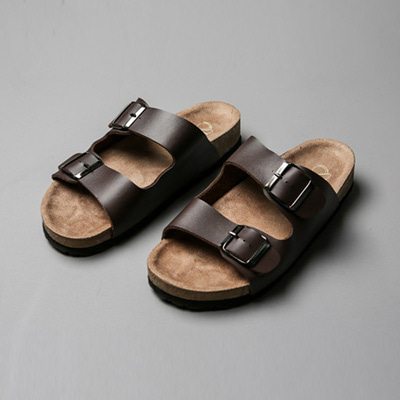 [BF2449]Two-Buckle Sandal( 2 color 250~280 size )