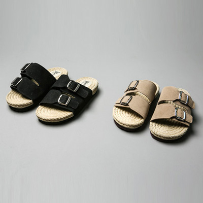 [BF2448]Natural Slip Sandal( 2 color 250~280 size )