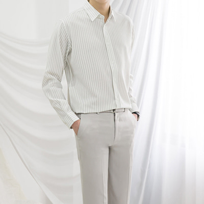 [BX0157]Jace Stripe Shirts( 4 color L/XL size )