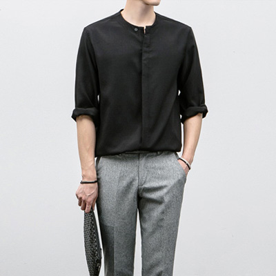 [BJ1621]Loop Hidden Shirts( 4 color M/L size )