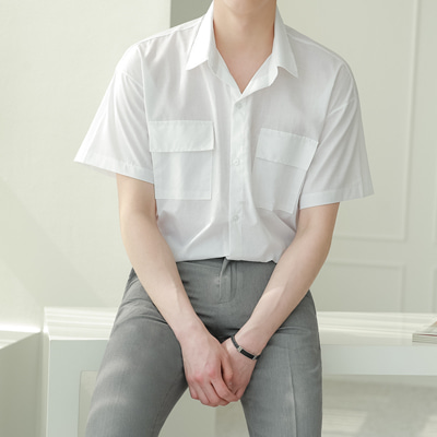 [BE2550]Basic Two Pocket Shirts( 4 color L,XL size )