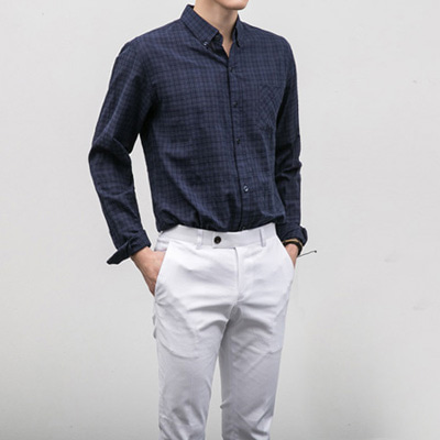[BE1252]Glen check Shirts( 2 color S/M/L size )