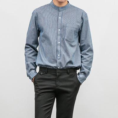 [BX1521]Vein Stripe Shirts( 2 color M/L size )