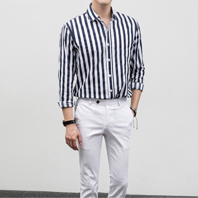 [BF2433]Flame Stripe Shirts( 3 color S/M/L size )