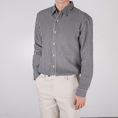 [BT1223]Malta Stripe Shirts( 4 color S/M/L size )
