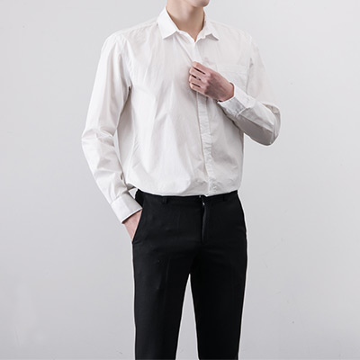 [BA2425]Simple Washed Shirts( 4 color M/L/XL size )