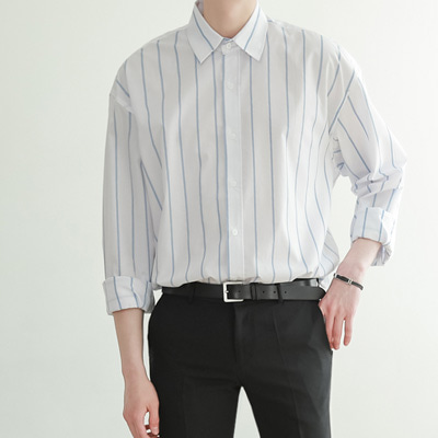 [BE2544]Heaven Over Stripe Shirts( 2 color Free size )