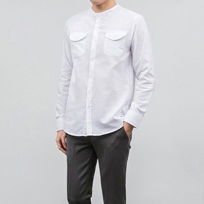 [BA2531]Modern No-collar Shirts( 3 color M/L size )