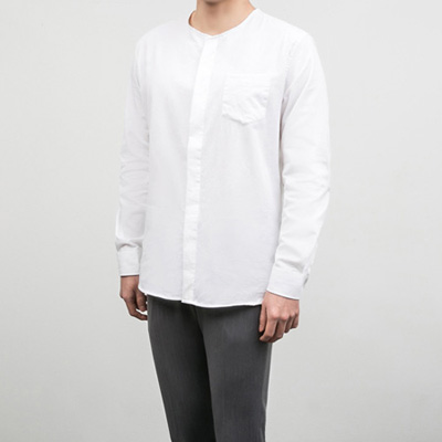 [BB0856]Simple Round Shirts( 2 color M/L size )
