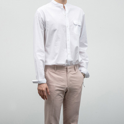 [BE1250]Pocket china shirts( 3 color S/M/L size )