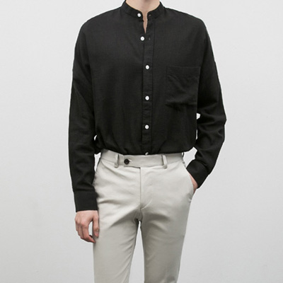 [BE1232]China linen Shirts( 4 color Free size )