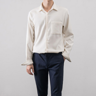 [BX0110][f/w]White Button Shirts( 3 color Free size )