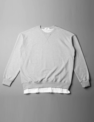 [BS2714]1+1Simple Layered Tee( 7 color Free size )