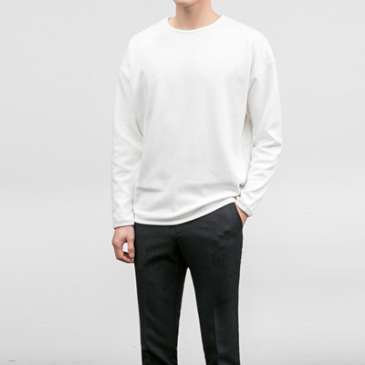 [BA1901]Basic Cotton Tee( 3 color Free size )