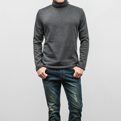 [BX2442]Basic Heat Turtleneck( 3 color L/XL size )