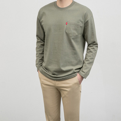 [BC2268]Basic Pocket Tee( 5 color Free size )