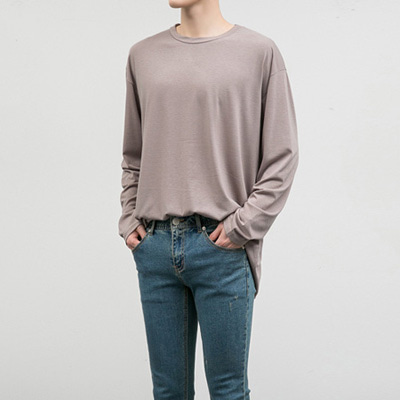 [BC2270]Long Sleeve Loose Tee( 4 color Free size )