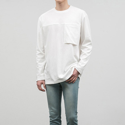 [BC2881]Pocket Cutting Tee( 3 color Free size )