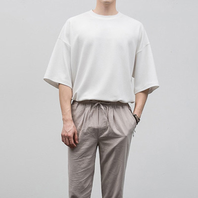 [BF2451]Cooling Embo Half Tee( 3 color Free size )