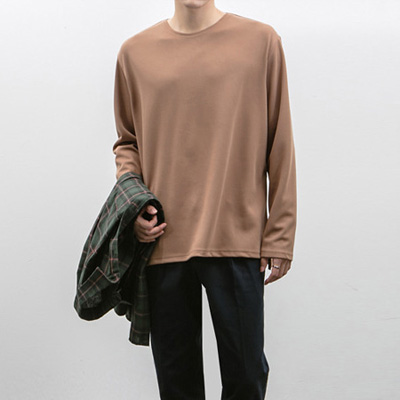 [BS2072]Matte Loose Tee( 3 color Free size )