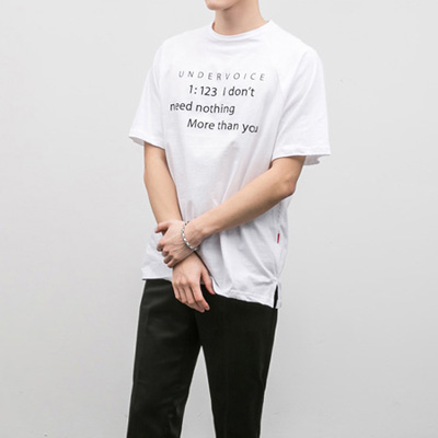 [BE1241]Under voice half Tee( 5 color Free size )