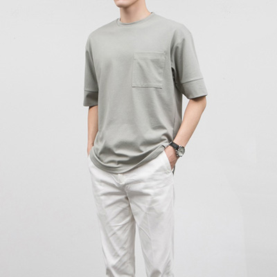 [BE0509]Tension Pocket Tee( 4 color M/L size )