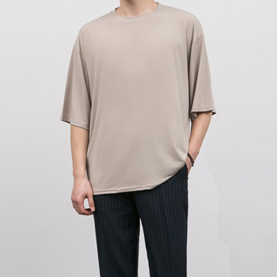 [BE0521]Loose Half Tee( 6 color Free size )